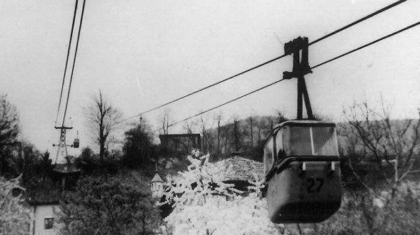 First construction of cable car